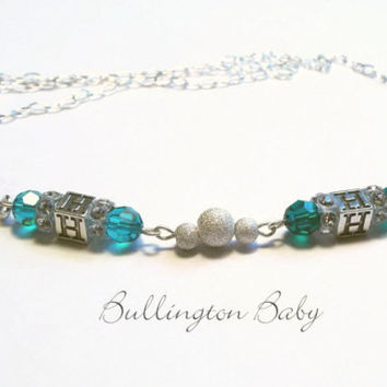 Mothers Necklace, Birthstone Necklace, Family Necklace, Crystal Necklace, Silver Necklace (A6)