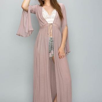 Bell Sleeve Cover Up Dress Top