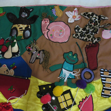 Baby playmat / play mat for toddler /Animal developing mat / quiet busy  mat / coloured playmat / modern toy for happy baby