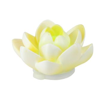 "4"" Floating White Flower LED Color Changing Patio or Swimming Pool Light"