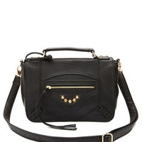 FAUX-LEATHER STRUCTURED CROSSBODY BAG