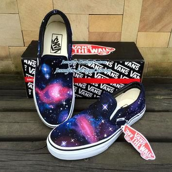 Galaxy VANS Shoes Galaxy Shoes,Hand Painted Shoes,Galaxy Custom Painted Shoes,Custom V
