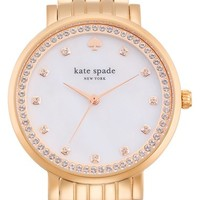 Women's kate spade new york 'monterey' crystal dial bracelet watch, 38mm - Rose Gold