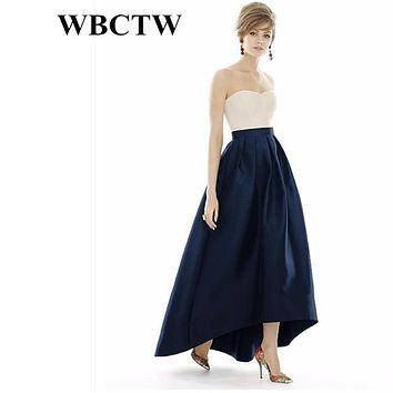 Long Pleated Skirts High Waist England Style Solid Women Skirt 6XL 7XL Large Size 2017 Beautiful Outfit Holiday Party Skirt