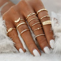 Midi Finger Ring Set Boho Knuckle Party Rings Jewelry