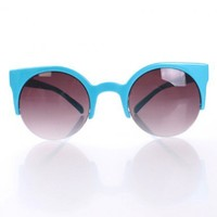 Blue Top Frame Sunglasses