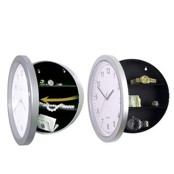Wall Clock Diversion Safe Secret Stash Money Cash Jewelry Toy Storage Security Lock Box Tin Container Organizer Huf