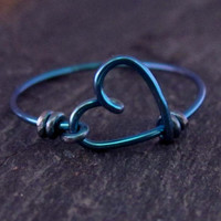 Infinity Heart Ring - Niobium Ring, Blue Heart Ring, Love Ring, Sweetheart Ring, Best Friend Rings, Niobium Jewelry, Gift for Her
