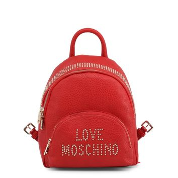 Love Moschino Women's Candy Red Studded Backpack.