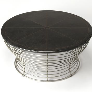Fleming Fossil Stone & Metal Coffee Table