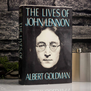 Hollow Book Safe and Whiskey Hip Flask - The Lives of John Lennon