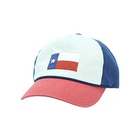 Texas Flag Needlepoint Rope Snapback Hat in Stone, Rust and Navy by Smathers & Branson
