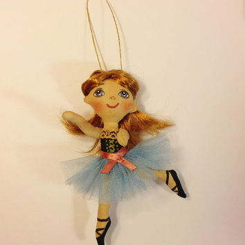 Ballerina doll Ballerina party Ballerina art Ballerina gift Ballet skirt Ballet shoes pointe Dancing Girl Rag doll cloth doll Art doll