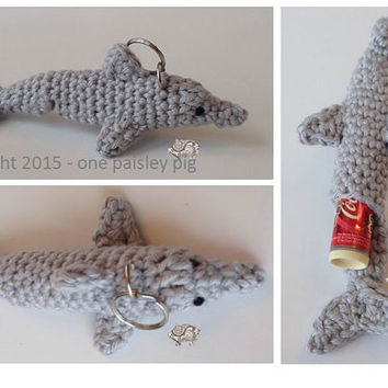 Dolphin Lip Balm Holder - PDF CROCHET PATTERN