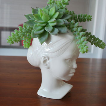 Modern Ceramic Head Planter