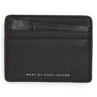 Men's MARC BY MARC JACOBS 'Classic' Leather Card Case