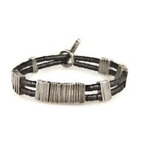 BARCODE WIDE BLACK BRACELET - M Cohen - Jewelry Homme Luxe | Madlords