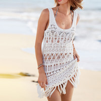 Knitted Sleeveless Cover-up