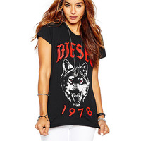 Letter Graphic Printed Short Sleeves T-Shirt
