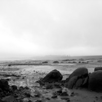 Black And White Lunar Landscape - Empty Folsom Lake Bed Art Print by Kurtis Ostrom Photography