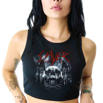Slayer For Womens Crop Tank **
