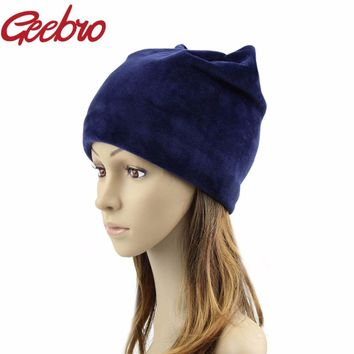 Spring Women Beanie Hat Russian Warm Hats Caps Women's Beanies Earflaps Hat Female Touca Cap For Girls Skull Beanie Hats JS283A