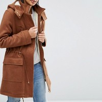 ASOS Formal Wool Parka with Borg Liner at asos.com