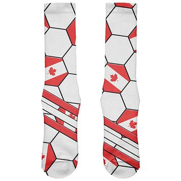 World Cup Canada Soccer Ball All Over Soft Socks