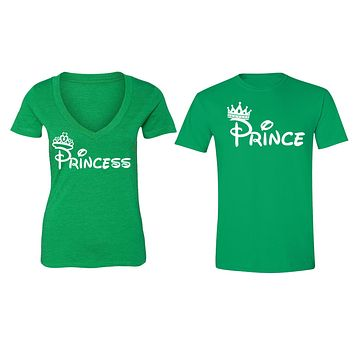 XtraFly Apparel Prince Princess Crown Valentine's Matching Couples Short Sleeve T-shirt