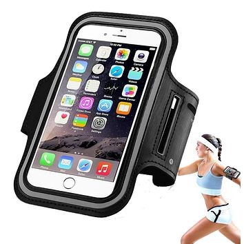 Workout Gym Running Sport Arm Band Case For iPhone 6 6S 5 5S 6Plus For Samsung Galaxy S4 S5 S6 Waterproof PU Leather Phone Cover