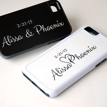 iPhone 5, iPhone 6 Case, 6 Plus Case, Personalized Phone Case, Couples Matching Phone Cases