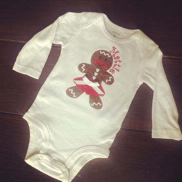 Gingerbread Onesuit. Infant. Toddler. Youth.