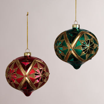 Gold Glass Onion Ornaments, Set of 2 - World Market
