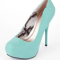 Neutral Pumps in Sea Green :: tobi