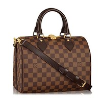 Louis Vuitton Damier Ebene Canvas Speedy Bandoulière 25 Article: N41368 Made in France