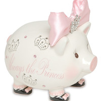 Princess Jeweled Piggy Bank