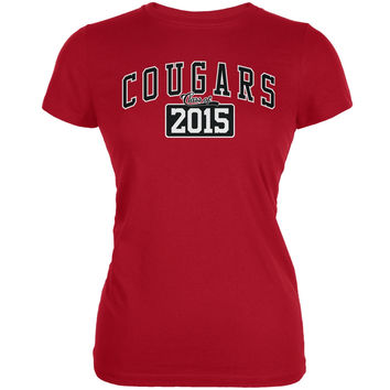 Graduation - Cougars Class of 2015 Red Juniors Soft T-Shirt