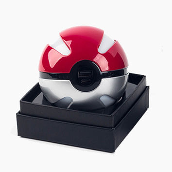 Pokeball Power Bank Charger 10000mah Custom Christmas Gift Game Pokemons Go Plus Powerbank Mobile Poke ball Plush Toy Power Bank