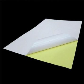 ESBU3C 100sheets A4 Glossy White Sticker Paper Label Printing Paper Glossy A4 Sticker Adhesive Strength Printing Paper OP004