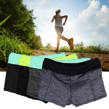 New Arrival Women Lady Summer Sports Running Yoga Elastic Short Pants Outdoor Shorts
