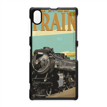 Travel By Train Hard Plastic Case for Sony Xperia Z1 by Nick Greenaway