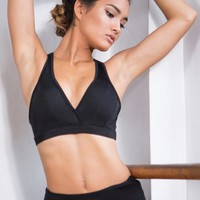 PUSH UPS SPORTS BRA IN BLACK