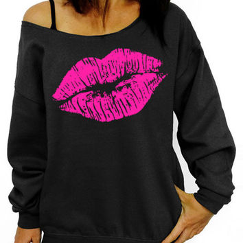 Pinks Lips Printed Sweatshirt