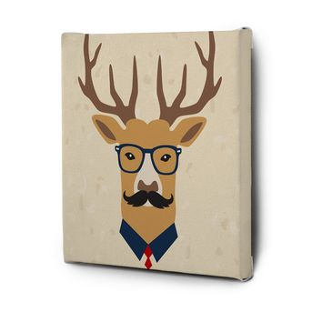 Hipster Animals Pictures Series Canvas Wall Art Decal Painting Prints Decor Deer