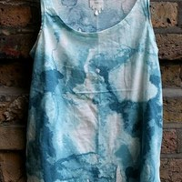 MONKI Loose Fit Turquoise Tie Dye Top S from Violasbargain