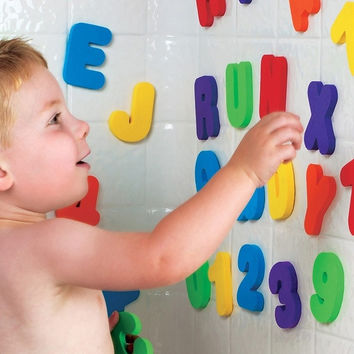 Bath Tub Foam Letters Numbers set 36pcs Children Learning Toy educational (Size: 2) = 1705939716