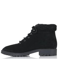 BIRDY Lace-Up Boots - Black