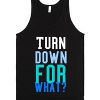 Turn Up Baby!-Unisex Black Tank
