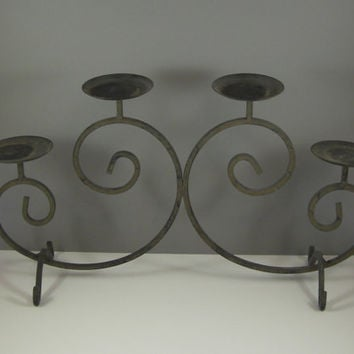 Wrought Iron Candelabra / Four Tier Candle Holder