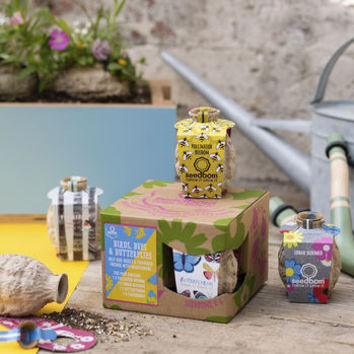 birds, bees and butterflies seedbom gift box by kabloom | notonthehighstreet.com